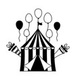 carnival tent balloons vector image vector image
