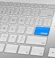 Change Keyboard vector image vector image