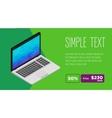 Clean design of laptop sale flyer vector image vector image