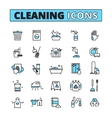 Cleaning Hand Drawn Icon Set vector image