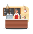 coffee shop design with vector image vector image