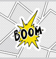 comic book speech bubble cartoon sound effect vector image vector image
