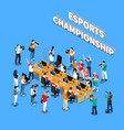 esports championship isometric composition vector image vector image