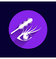 Eyelashes and eyebrows eyelash eye icon makeup vector image