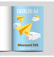 fast catalog a4 sheet vector image