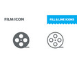 film icon fill and line flat design ui vector image