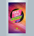 final sale editable templates for social media vector image