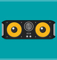 flat bluetooth speakers vector image vector image