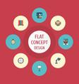 flat icons espresso machine identification vector image vector image