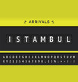 flight arrival destination in asia istambul vector image