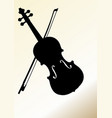 flyer design template with violin silhouette on vector image