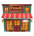 french restaurant cafe facade exterior design vector image