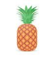 fresh juicy pineapple icon tasty ripe fruit vector image