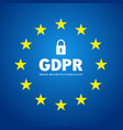 gdpr abstract background template with star vector image