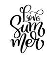 hand drawn love summer lettering logo vector image vector image