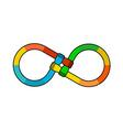 Hands infinity logo vector image vector image