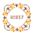 Honey label vintage style vector image vector image