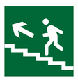Infographic of man on stairs icon vector image vector image
