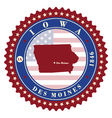 Label sticker cards of State Iowa USA vector image vector image