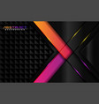 modern black background with purple and orange vector image vector image