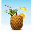 pineapple cocktail vector image vector image