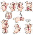 potbelly piggies posing pack 001 vector image vector image