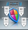 protection business infographics marketing icon vector image vector image