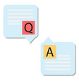 question answer icon on white background question vector image vector image