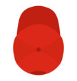 red baseball cap icon flat style vector image vector image