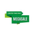 sale banner discount logo vector image