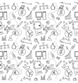 Seamless sketch of business doddle elements vector image