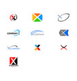 set initial letter x logo template design vector image vector image