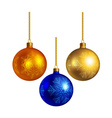 Set of bright colored christmas balls vector image vector image