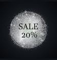 silver-sale-twenty vector image
