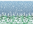 Snowy winter forest Christmas landscape vector image