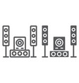 sound system line and glyph icon audio and stereo vector image vector image