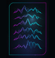 sound wave music voice vibration vector image vector image