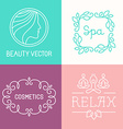 spa and cosmetics logos vector image vector image