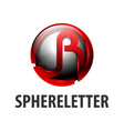 sphere circle initial letter jr logo concept vector image