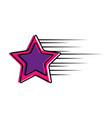 star fast isolated icon vector image
