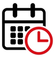 Timetable Flat Icon vector image vector image