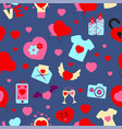 valentine s day seamless pattern flat vector image vector image