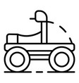 winter motorbike icon outline style vector image vector image