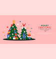 year friends pine tree template vector image
