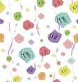 classical seamless rose pattern vector image