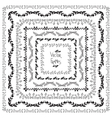 Set of decorative elements Square frames vector image