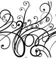 Elegant seamless scribble floral ornament vector image