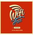 Free wifi symbol retro style vector image