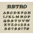 Wide retro dimensional characters set vector image