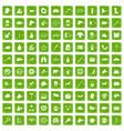 100 dog icons set grunge green vector image vector image